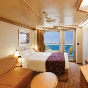 balcony on the sea cabin